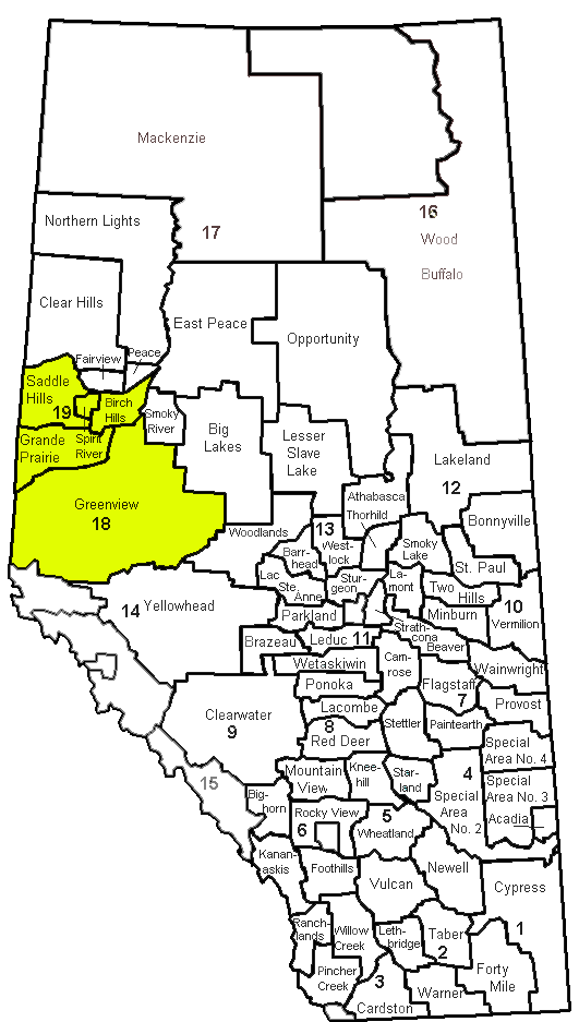 We cover the communities in the yellow area.