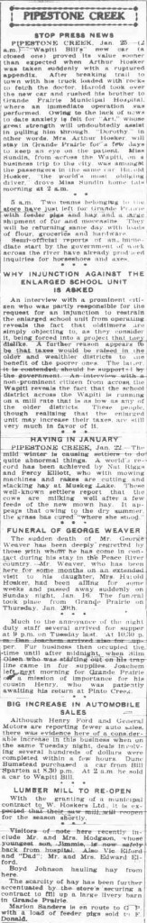 Northern Tribune ~ January 27, 1938