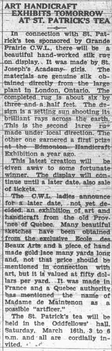 Grande Prairie Herald ~ March 15, 1935