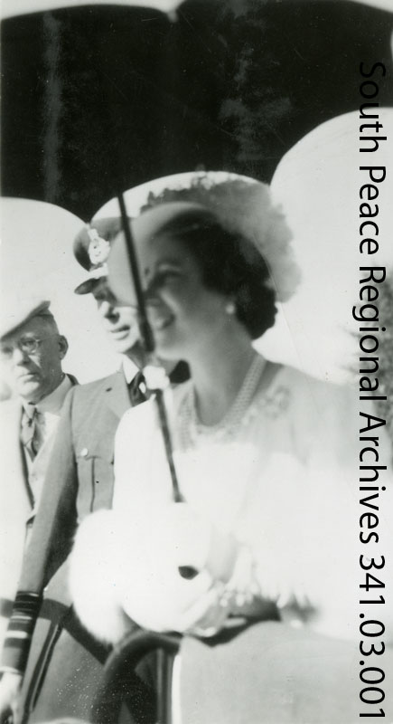 A casual photograph of King George VI and Queen Elizabeth when Marion traveled to Edmonton for their 1939 tour.