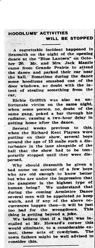 Northern Tribune ~ November 9, 1933