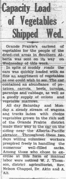 Grande Prairie Herald ~ October 5, 1934
