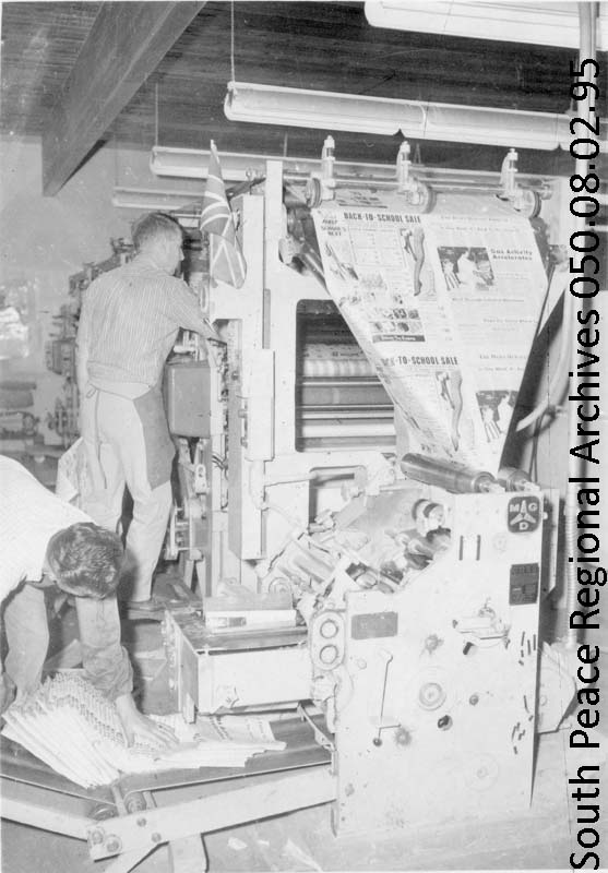 Printing of the Herald Tribune in the 1960s.