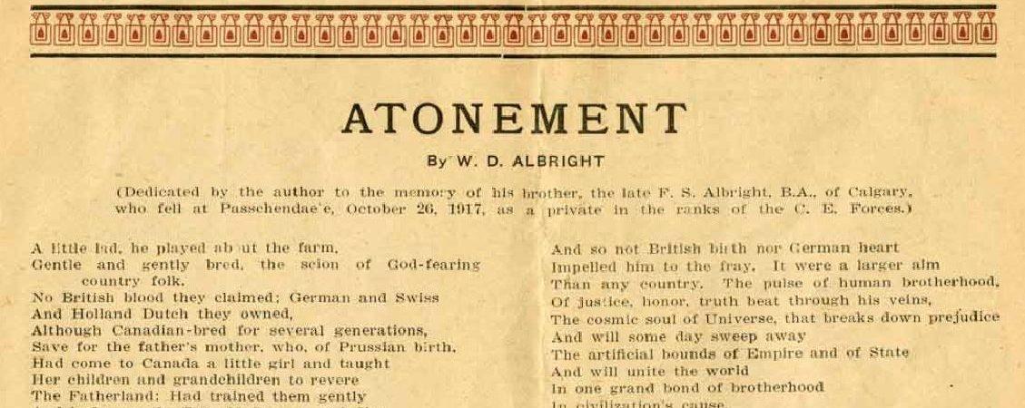 Soldier Spotlight: Private Frederick Stanley Albright