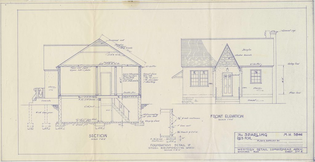 blueprint showing the exterior of a school