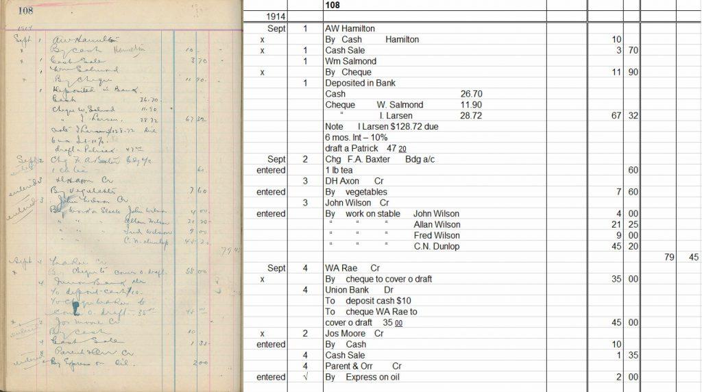 Argonauts Cashbook with transcription
