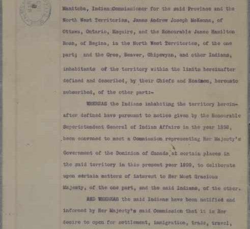 Records and Reconciliation: Treaty #8