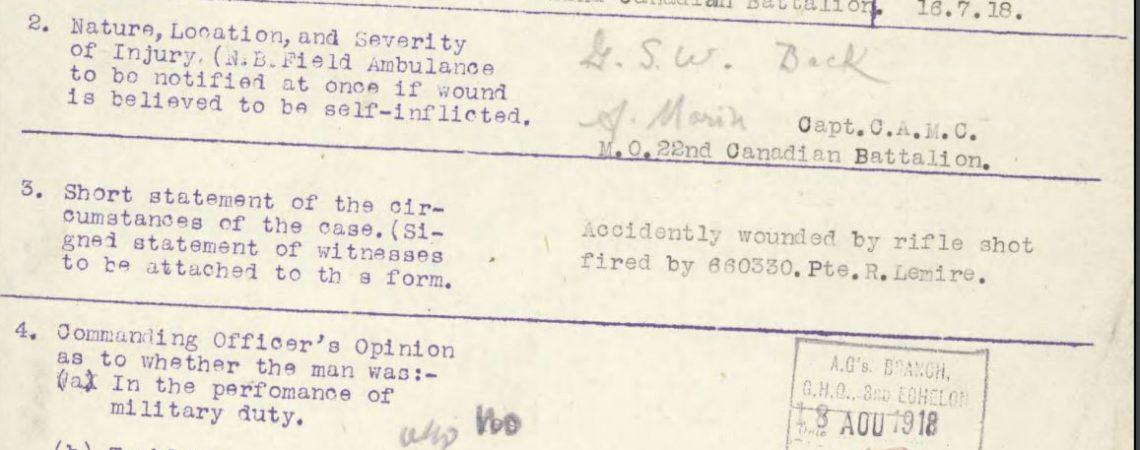 Soldier Spotlight: Private Joseph Davignon